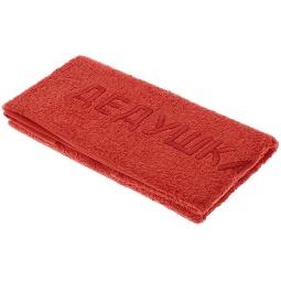 фото Полотенце подарочное с вышивкой TAC Дедушка. Цвет: терракотовый