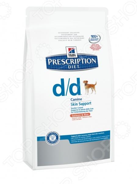 Корм сухой диетический для собак Hill's D/D Prescription Diet Canine с лососем и рисом
