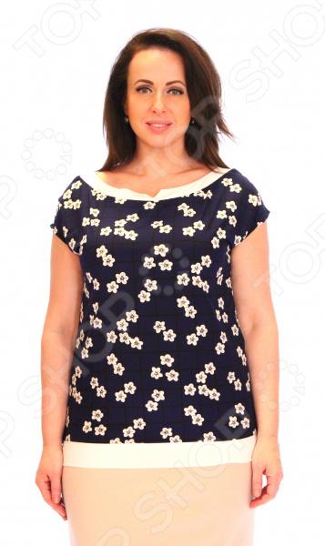 Блуза Элеганс «Августина». Цвет: белыйБлузы. Рубашки<br>Блуза Элеганс Августина это легкая и нежная блуза, которая поможет вам создавать невероятные образы, всегда оставаясь женственной и утонченной. Благодаря отличному дизайну она скроет недостатки фигуры и подчеркнет достоинства. Блуза прекрасно смотрится с брюками и юбками, а насыщенный цвет привлекает взгляд. В этой блузе вы будете чувствовать себя блистательно как на работе, так и на вечерней прогулке по городу. Благодаря грамотному дизайну и удобной длине на уровне бедер блуза идеально смотрится на женщинах с любым типом фигуры. Короткие свободные рукава подходят для женщин с любой полнотой рук. Круглый вырез горловины, декорированный тесьмой, визуально удлинит горло и подчеркнет плавность черт. Оригинальный принт блузы это не только элемент стиля. Он имеет важную функцию: яркая расцветка, отвлекает внимание от недостатков и облегчает силуэт. Это классический и эффективный прием, помогающий добиться гармоничных пропорций тела. Швы обработаны текстурированными, эластичными нитями, благодаря чему не тянутся и не натирают кожу. Блуза изготовлена из мягкой ткани 20 вискоза, 80 полиэстер , благодаря чему материал не скатывается и не линяет после стирки. Вискоза хорошо впитывает влагу и позволяет коже дышать.<br>