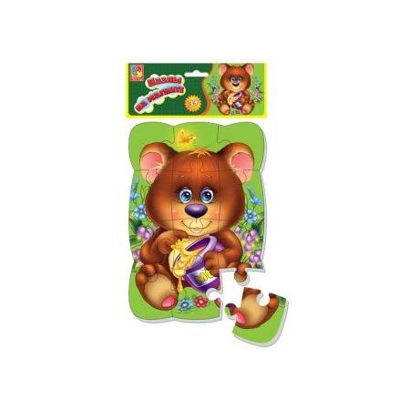 Купить Пазл магнитный Vladi Toys «Медвежонок»