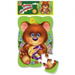 фото Пазл магнитный Vladi Toys «Медвежонок»