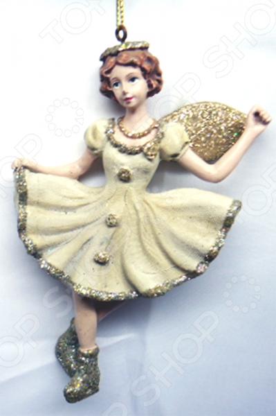 Елочное украшение-подвеска Crystal Deco «Девочка на коньках»