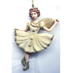 фото Елочное украшение-подвеска Crystal Deco «Девочка на коньках»