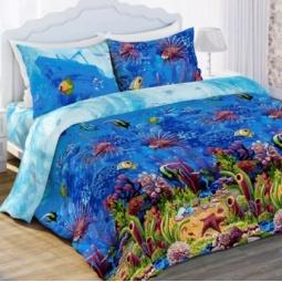 фото Комплект постельного белья Любимый дом «Морской мир». 2-спальный