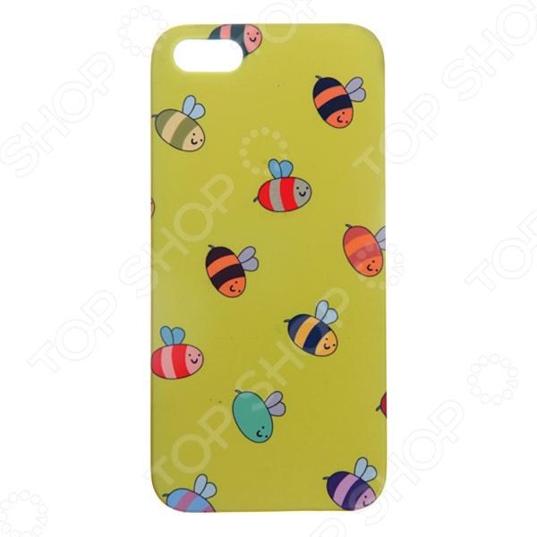 Чехол для iPhone 5 Mitya Veselkov «Пчелки» 061 вольдемар бонзельс приключения пчелки майи