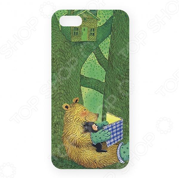 Чехол для iPhone 5 Mitya Veselkov «Мишка с книжкой» цена и фото