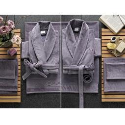 фото Набор халатов с полотенцами Valeron Crista. Цвет: сиреневый