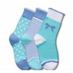 фото Комплект детских носков Teller Adorable Girl. Цвет: зеленый, голубой. Размер: 36-38