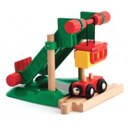 фото Набор игровой для мальчика Brio «Погрузочная станция для сена с вагончиком»