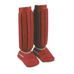 фото Защита голени и стопы ATEMI PSS-468 красная. Размер: M