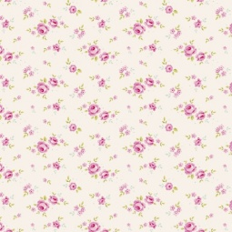 фото Отрез ткани Tilda Мелкие розы. Цвет: белый