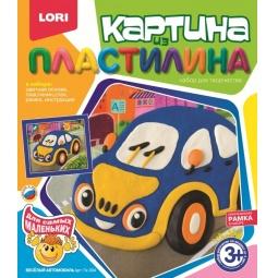 фото Набор для создания картины из пластилина Lori «Веселый автомобиль»