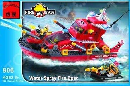 Конструктор игровой для ребенка Brick «Катер пожарный» 906
