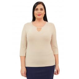 Блуза Матекс «Каролина». Цвет: бежевый