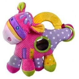 фото Игрушка подвесная музыкальная Жирафики с прорезывателем «Коровка»