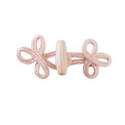 фото Набор застежек плетеных с крючком Tilda. Цвет: розовый