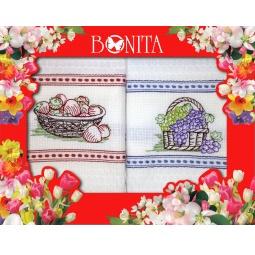 фото Комплект из 2-х вафельных полотенец подарочный BONITA «Вышивка»
