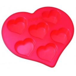 Купить Форма для выпечки силиконовая Regent Сердечки