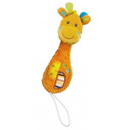 фото Мягкая игрушка развивающая Жирафики «Жирафик с прищепкой для соски»