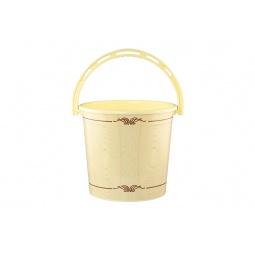 Купить Ведро круглое Violet 0110БК «Беленый дуб»