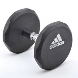 фото Гантель обрезиненная Adidas. Вес в кг: 10 кг