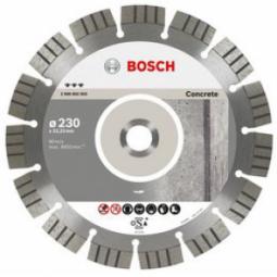 Купить Диск отрезной алмазный для угловых шлифмашин Bosch Best for Concrete 2608602653