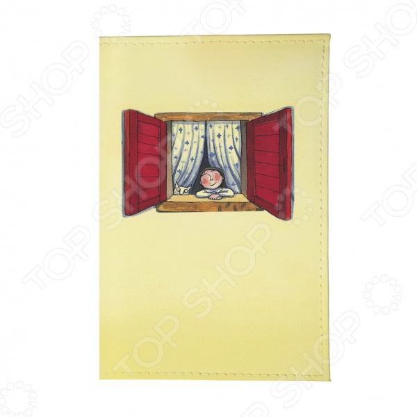 Обложка для паспорта Mitya Veselkov «Красное окошко»Обложки для паспортов<br>Обложка для паспорта Mitya Veselkov Красное окошко это полезный и стильный аксессуар. С такой обложкой документы не порвутся и не запачкаются. А еще оригинальный внешний вид и безукоризненное исполнение подчеркнут индивидуальный стиль владельца. Обложка подходит как для гражданского, так и для заграничного паспорта.<br>