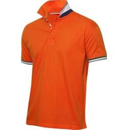 фото Рубашка-поло Clique «Ньютон». Цвет: оранжевый. Размер одежды: XL