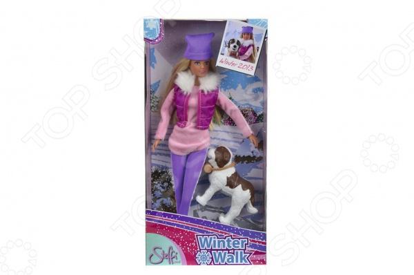 Кукла с аксессуарами Simba Штеффи на прогулке с собакойКуклы<br>Кукла с аксессуарами Simba Штеффи на прогулке с собакой понравится любой девочке. Кукла это интересная и полезная игрушка для любой девочки. Такая игрушка оставляет простор для фантазий ребенка, дает возможность самостоятельно придумывать новые игры и с помощью таких игр адаптироваться в реальном мире. Эта кукла надолго станет настоящим другом вашему ребенку. Штеффи настоящая модница, ваша малышка сможет самостоятельно придумывать красивые прически для длинных волос Штеффи. Эта Штеффи уже приготовилась к холодной зимней погоде. Она одета в теплые брюки, длинный свитер, жилетку и шапку. Теперь ей не страшны никакие холода. А на прогулку она отправляется со своим верным другом домашней собачкой.<br>