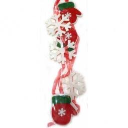 фото Подвес декоративный Новогодняя сказка «Варежка с лентами»