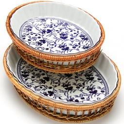 Купить Набор форм для выпечки керамических Mayer&Boch «Домашний уют». Рисунок: гжель