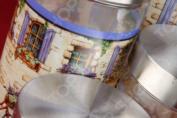 Набор банок с крышками Rosenberg 6190Банки для хранения<br>Набор банок с крышками Rosenberg 6190 - удобное и практичное дополнение вашего кухонного интерьера, с которым хранить продукты станет ещё проще и удобней. Стеклянные банки с металлическими крышками идеально подходят для хранения различных сыпучих продуктов, например, круп, каш, специй, соли или сахара. Различный объем банок делает набор ещё более практичным и функциональным. Изделия выполнены из высококачественных материалов, которые не влияют на вкусовые и ароматические свойства хранящихся в них продуктов. Оригинальный дизайн изделий отлично впишется в любую кухню и станет её настоящим украшением.<br>