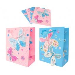 Купить Набор подарочных пакетов Elan Gallery «Бабочки на розовом и голубом»