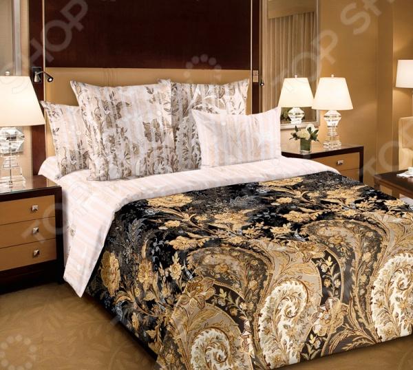 Комплект постельного белья Королевское Искушение «Музей». Цвет: коричневый