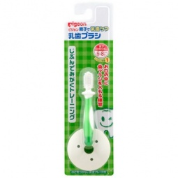 фото Щетка зубная для младенцев с фиксатором Pigeon. Цвет: зеленый