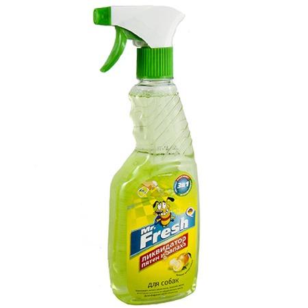 Купить Спрей ликвидатор пятен и запаха собак Mr.Fresh «3в1»