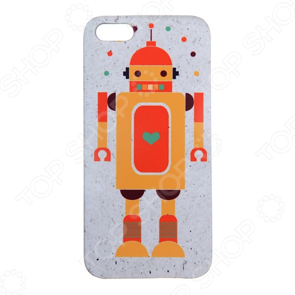 Чехол для iPhone 5 Mitya Veselkov «Влюбленный робот»
