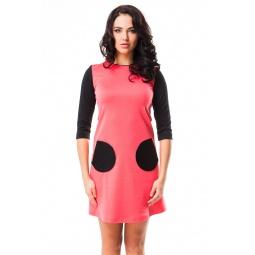 фото Платье Mondigo 5065. Цвет: коралловый. Размер одежды: 46