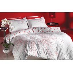 фото Комплект постельного белья TAC Selia. 1,5-спальный. Цвет: белый