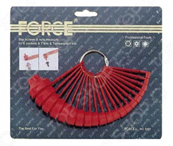 Набор шаблонов для измерения размеров звездочек Force F-5201 набор оправок конусных для резиновых колец force f 904t2