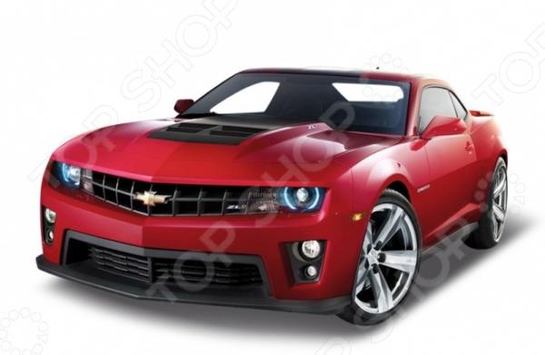 Модель автомобиля 1:24 Welly Chevrolet Camaro. В ассортиментеМодели авто<br>Товар продается в ассортименте. Цвет изделия при комплектации заказа зависит от наличия цветового ассортимента товара на складе. Модель автомобиля 1:24 Welly Chevrolet Camaro представляет собой точную копию настоящего спорткара 2009 года выпуска. Коллекционная модель выпущена известной компанией по производству игрушек Welly. Особенность коллекции в том, что все модели изготовлены по лицензии именитых автопроизводителей. Автомобиль изготовлен из металла с элементами пластика и обладает потрясающей детализацией. У него открываются двери и вращаются колеса. Модель 1:24 Chevrolet Camaro является отличным подарком не только ребенку, но и коллекционеру.<br>
