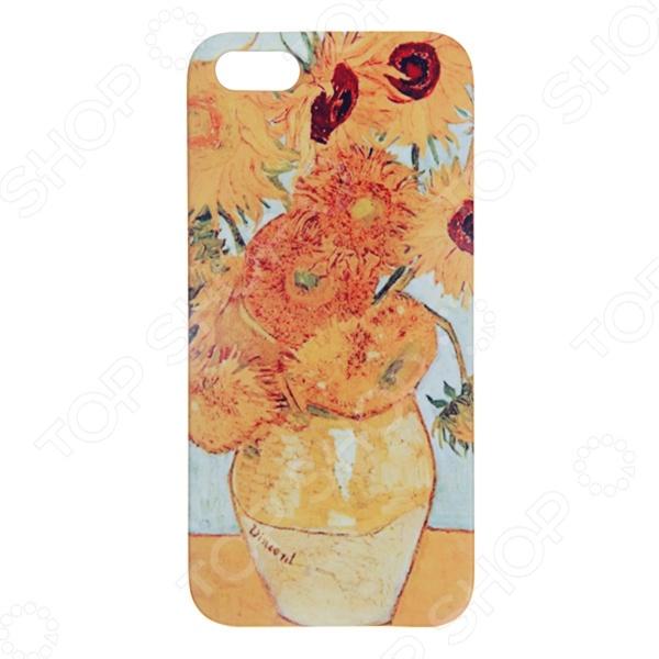 Чехол для iPhone 5 Mitya Veselkov «Подсолнухи Ван Гога» чехол для ipad mitya veselkov подсолнухи ван гога