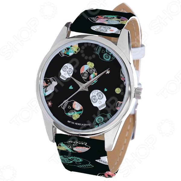 Часы наручные Mitya Veselkov «Цветные черепа» ART цена и фото