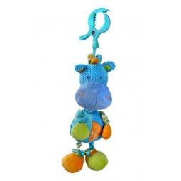 фото Игрушка подвесная музыкальная Жирафики «Бегемотик»