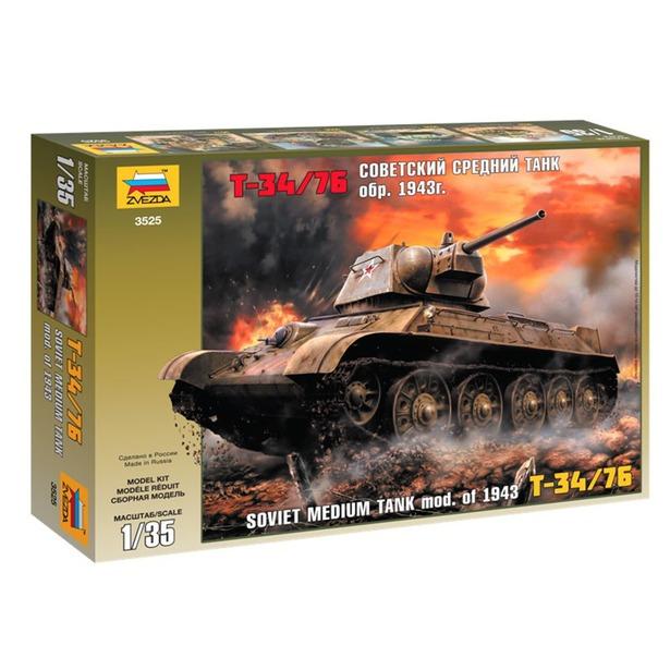 фото Сборная модель танка Звезда «Т-34/76»