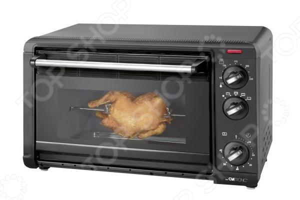 Мини-печь Clatronic MBG 3521Настольные мини-печи<br>Мини-печь Clatronic MBG 3521 это электрический жарочный шкаф, который предназначен для запекания разных видов мяса, рыбы и других продуктов. С ее помощью вы можете готовить разнообразные блюда, включая вкусную и румяную выпечку. Доступ к внутренней полости духовки осуществляется через удобную откидную дверцу. Кроме того, духовка снабжена регулятором температуры, таймером и световым индикатором, позволяющим контролировать состояние прибора. Современный дизайн модели позволит дополнить любой интерьер.<br>