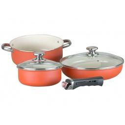 фото Набор посуды для готовки POMIDORO Terracotta Ottimale Set