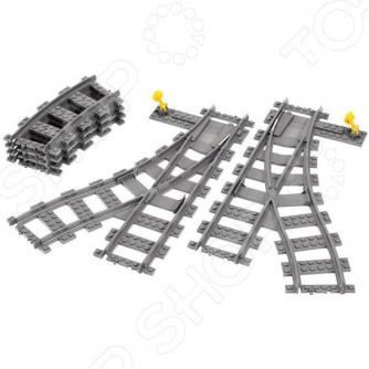 Конструктор LEGO «Железнодорожные стрелки»Конструкторы LEGO<br>Конструктор LEGO Железнодорожные стрелки это отличная поверхность для создания ваших legо-шедевров! На ней можно создать ваш уникальный проект с поездами, либо использовать в постройке города. Использование этих деталей зависит только от вашей фантазии.<br>