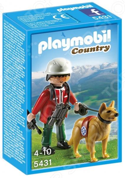 Набор игровой Playmobil «В горах: Спасатель с собакой»