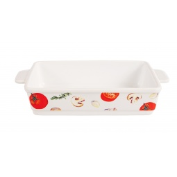 фото Блюдо для запекания керамическое прямоугольное «Едим Дома от Юлии Высоцкой». Рисунок: томаты